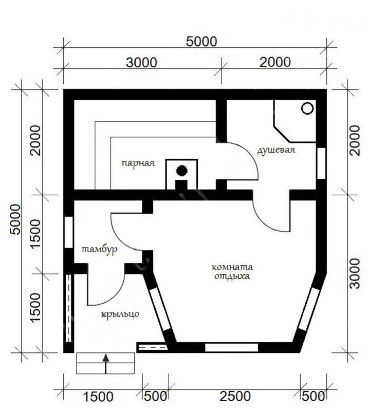 «Баня с парилкой и мойкой: совмещать или разделять? Советы, фото, проекты» фото - bany sovm parn moech 12 718x800