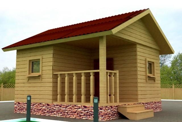 «Проект бани 4 на 4 с верандой: фото, варианты планировки» фото - banya 4 na 4 veranda 1