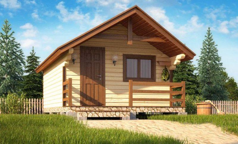 «Проект бани 4 на 4 с верандой: фото, варианты планировки» фото - banya 4 na 4 veranda 2 800x483