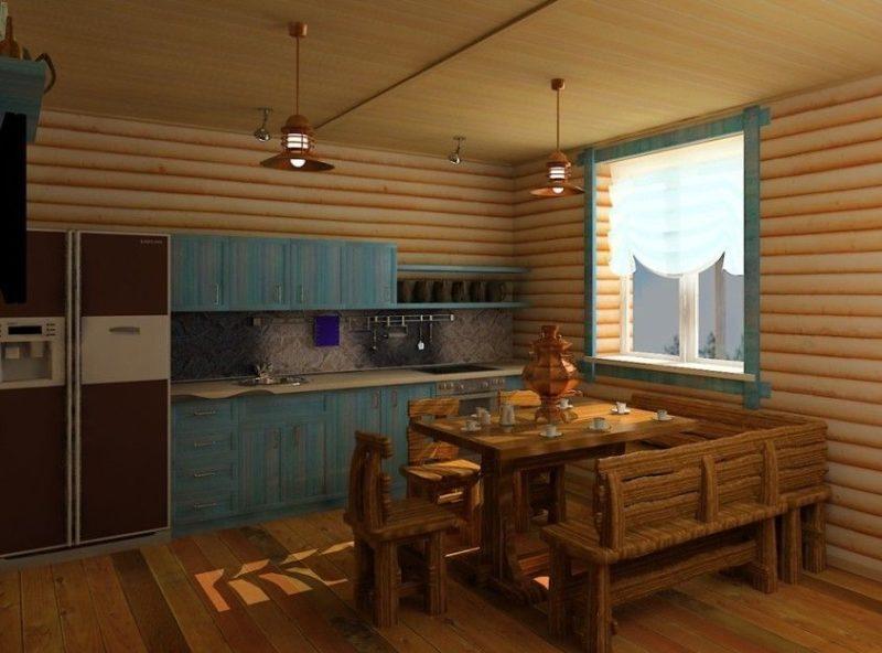 «Проект бани с кухней: преимущества, фото. Примеры проектов бани с летней кухней» фото - banya kuhnja 5 800x592