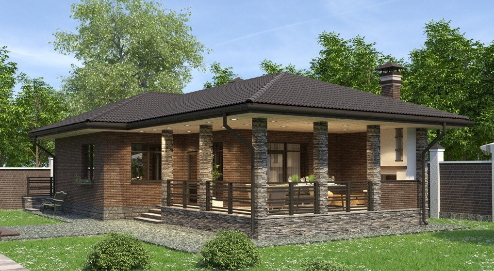 «Проекты одноэтажных бань: преимущества, фото, идеи» фото - odnoetajnye bani 1