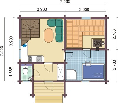 «Проекты одноэтажных бань: преимущества, фото, идеи» фото - odnoetajnye bani 10