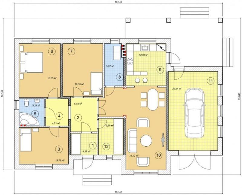 «Проекты одноэтажных бань: преимущества, фото, идеи» фото - odnoetajnye bani 16 800x645