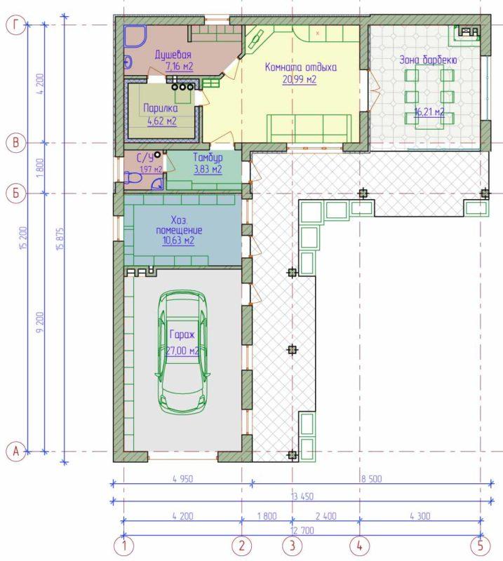 «Проекты одноэтажных бань: преимущества, фото, идеи» фото - odnoetajnye bani 17 717x800