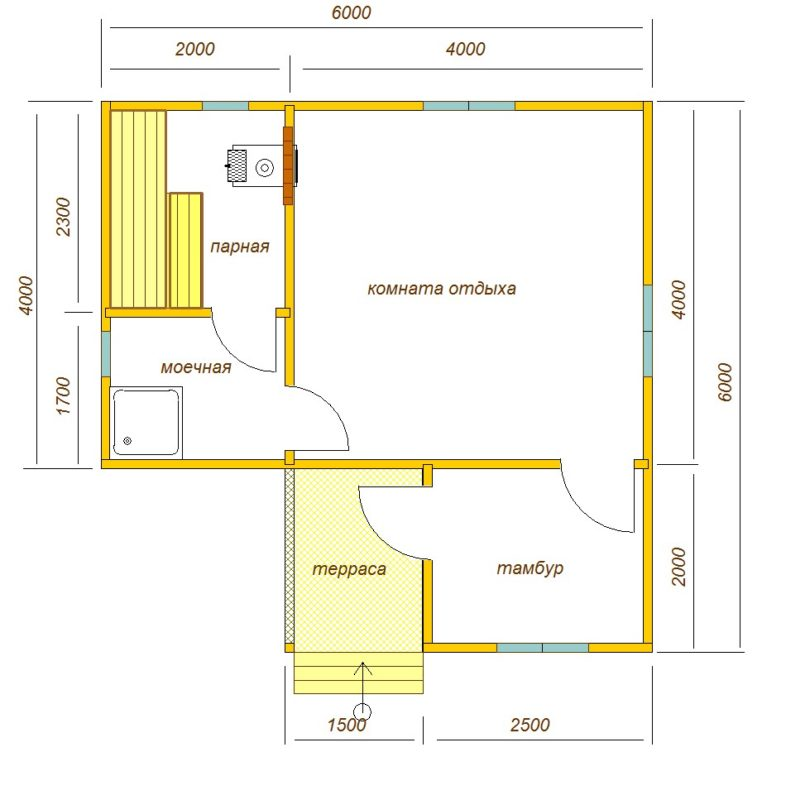 «Проекты одноэтажных бань: преимущества, фото, идеи» фото - odnoetajnye bani 18 786x800