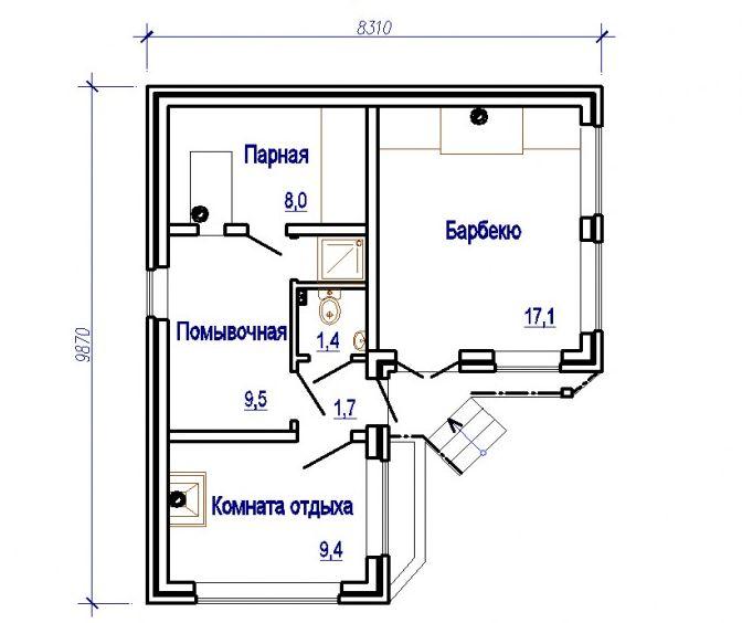 «Проекты одноэтажных бань: преимущества, фото, идеи» фото - odnoetajnye bani 19