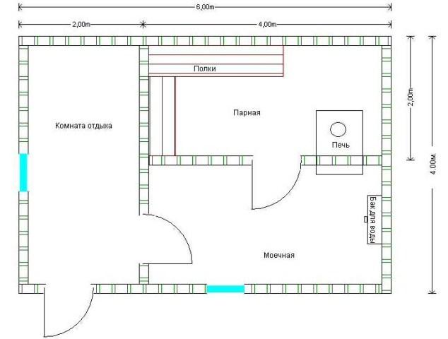 «Проекты одноэтажных бань: преимущества, фото, идеи» фото - odnoetajnye bani 5