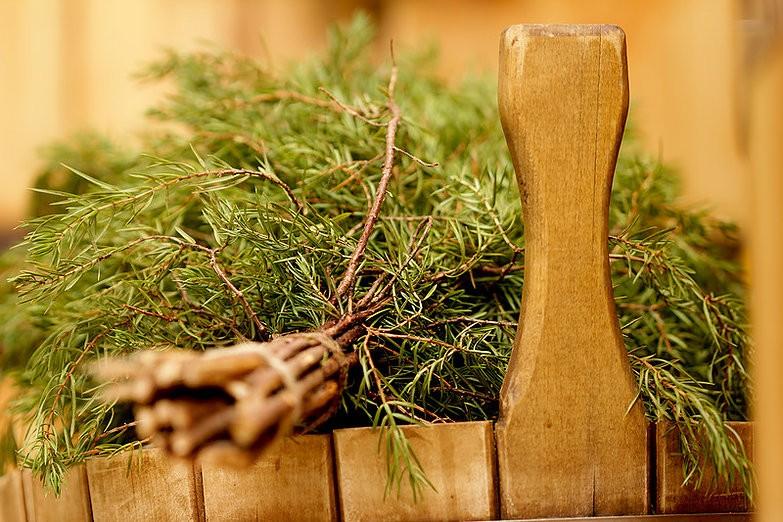 «Можжевеловый веник для бани: польза и вред. Как запаривать веник из можжевельника и париться им?» фото - mozhzhevelovyj venik 5