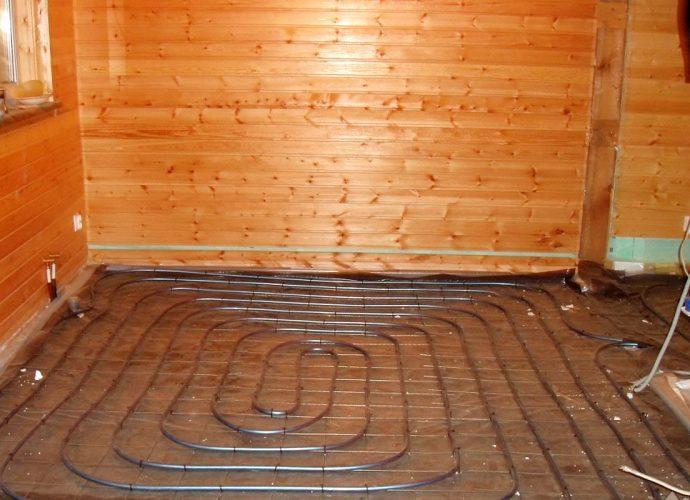 «Теплый пол в бане: виды и особенности. Как сделать теплые полы в бане?» фото - teplyj pol 1 690x500