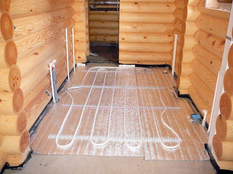 «Теплый пол в бане: виды и особенности. Как сделать теплые полы в бане?» фото - teplyj pol 3 800x600
