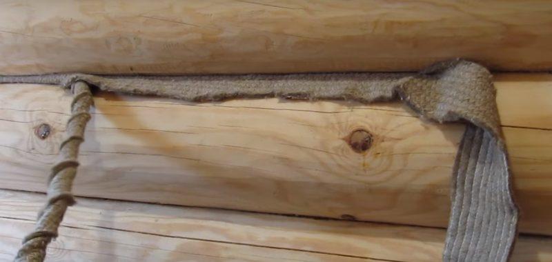 «Конопатка сруба: особенности, выбор материала. Как правильно конопатить сруб?» фото - konopatka sruba 3 800x380