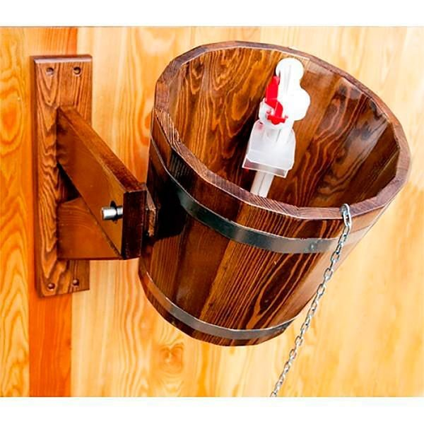 «Обливное устройство для бани: преимущества недостатки. Монтаж обливного ведра для бани» фото - oblivnoe ustrojstvo 2