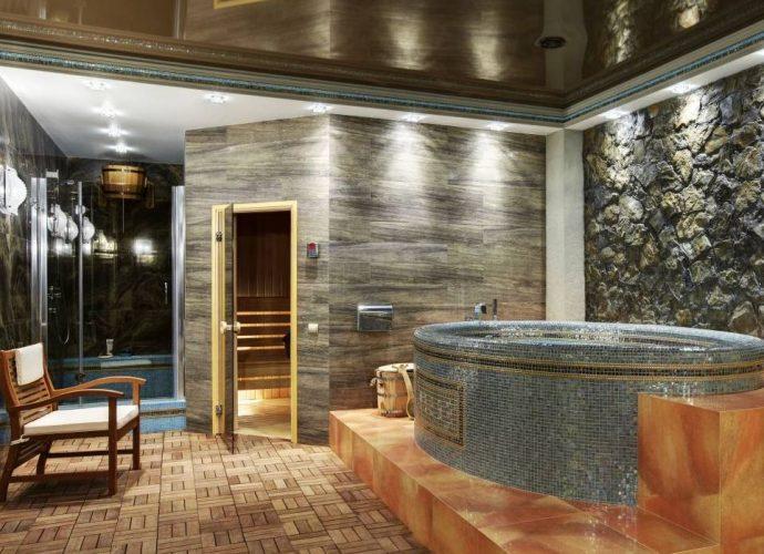 «Баня в подвале дома: преимущества и особенности. Как построить баню или сауну в подвале дома своими руками?» фото - banya v podvale 1 690x500