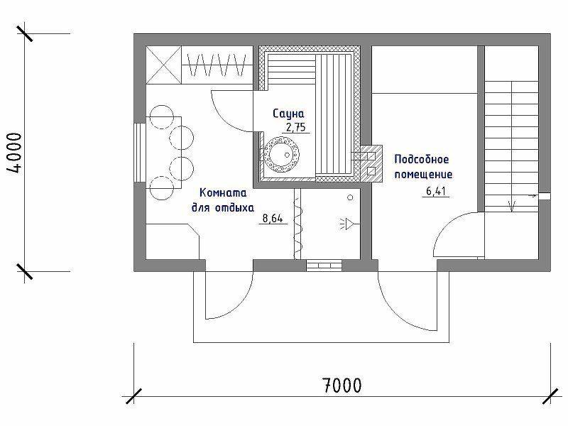 «Баня в подвале дома: преимущества и особенности. Как построить баню или сауну в подвале дома своими руками?» фото - banya v podvale 3 800x600