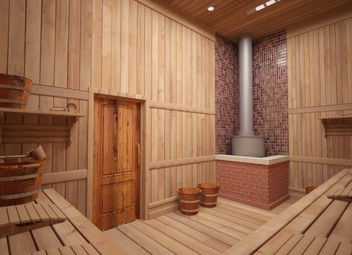 «Лучшие древесные породы для внутренней отделки бани» фото - 274337433 w640 h640 interjer bani 690x500