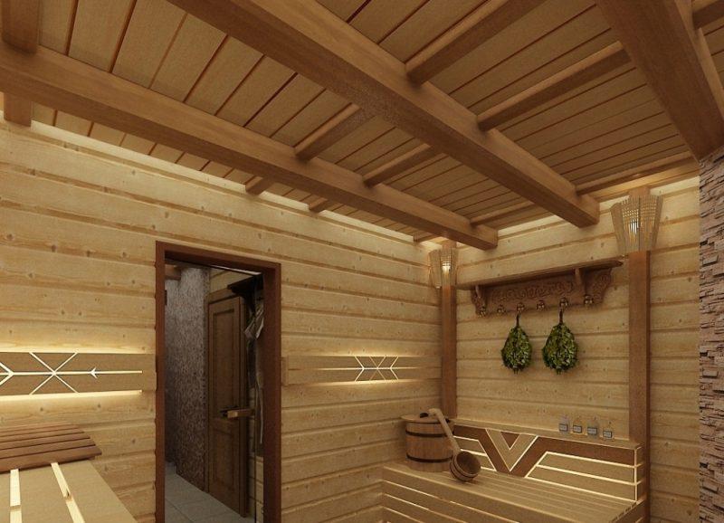 «Как сделать потолок в бане» фото - potolok 1 800x578