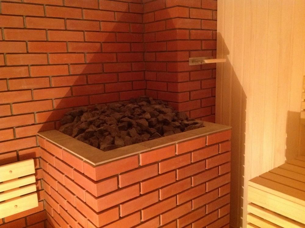«Как сделать кирпичную печь для бани своими руками?» фото - na foto bannaya pech oblozhennaya kirpichom