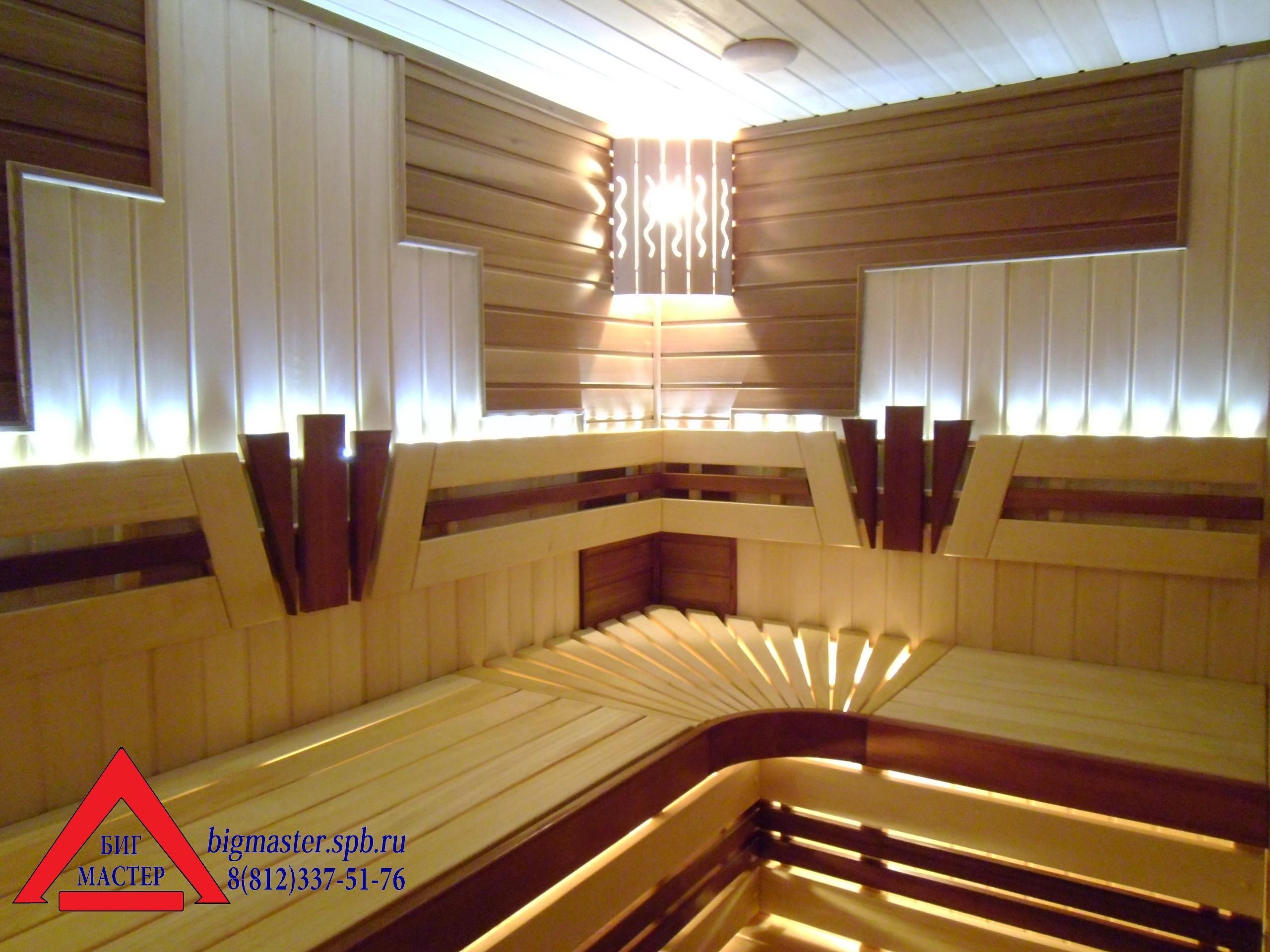 «Строительство сауны и отделка бани под ключ» фото - Sauna ot BIG MASTER s logotipom
