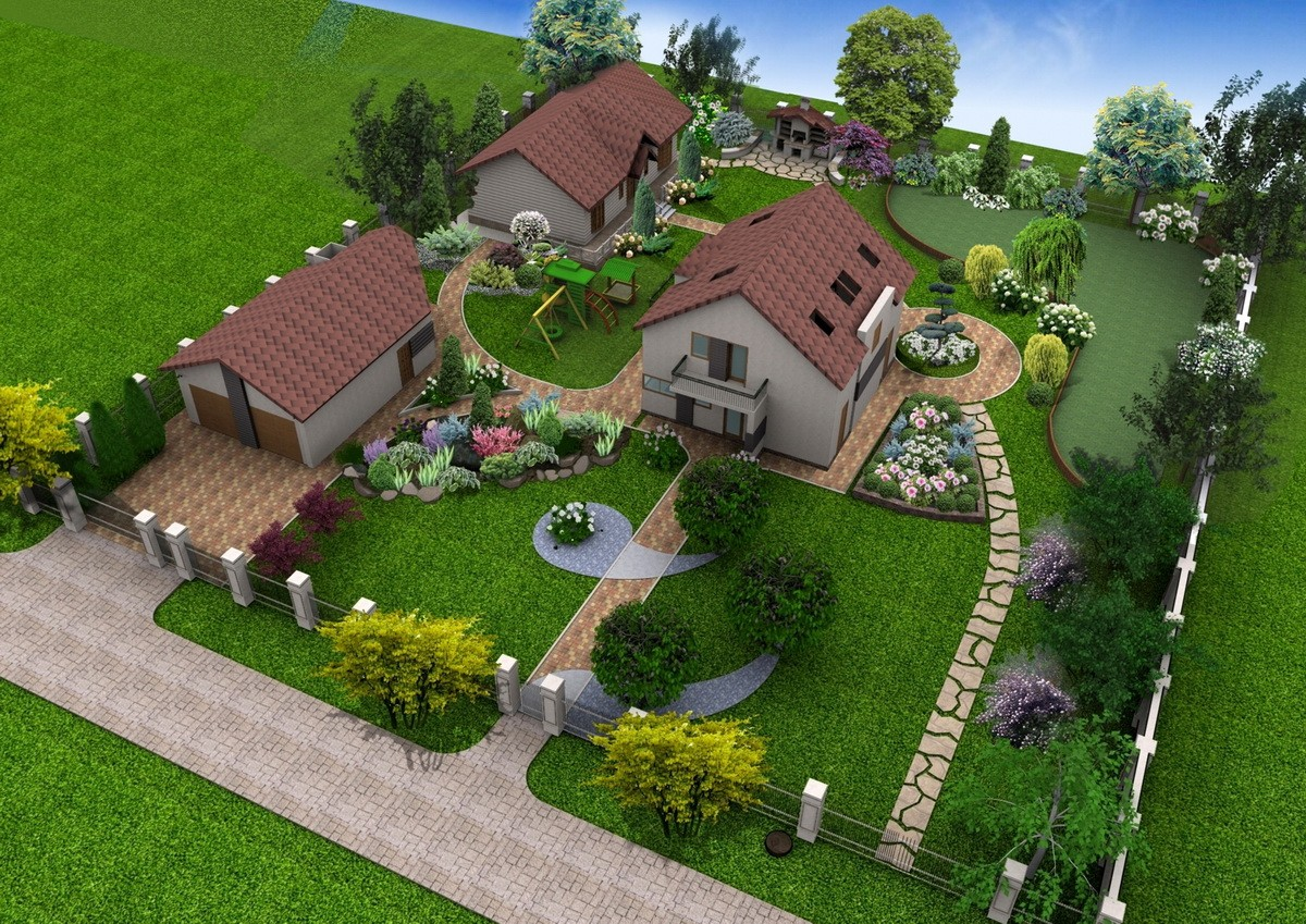 «Дизайн участка загородного дома» фото - postrouki