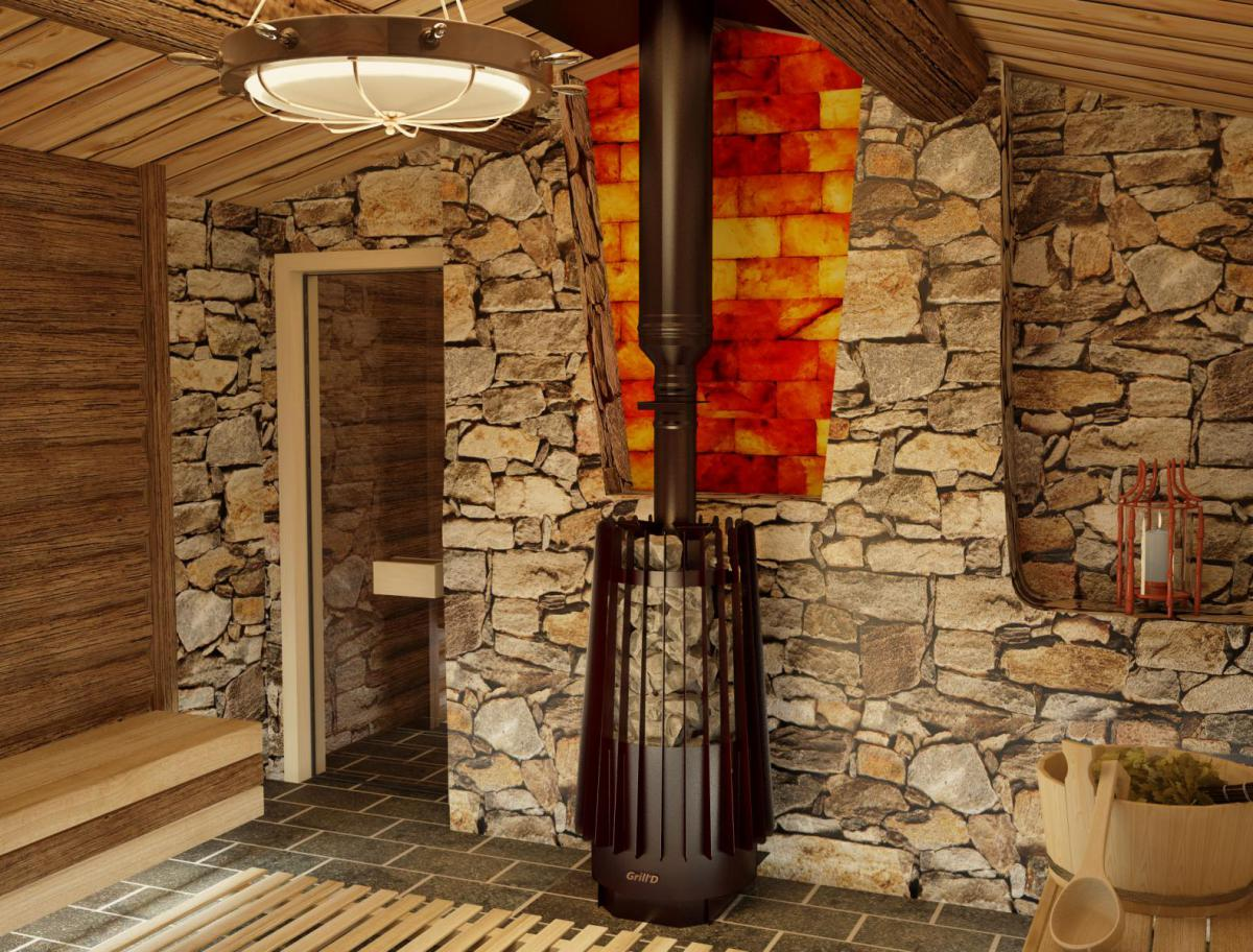 «Печь-каменка для бани» фото - grilld cometa 180 vega window black 3